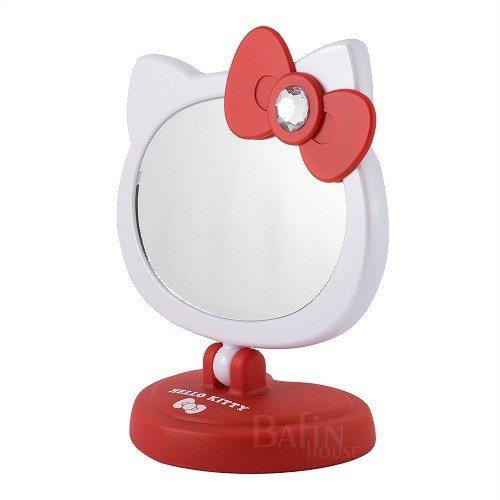 【Hello Kitty】可愛造型LED觸控桌鏡/化妝鏡,共有2色可任選。即日起...