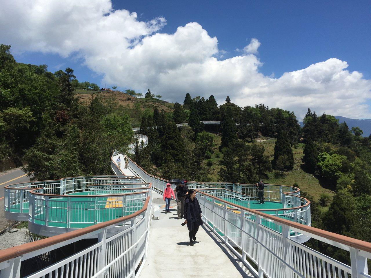 清境高空觀景步道景觀優美,開放至今吸引60多萬名遊客上門。記者江良誠/攝影