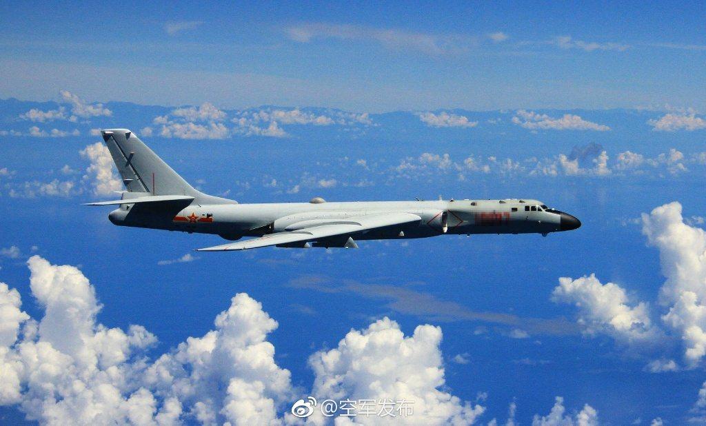 未來中國空軍對西太發動攻擊,將會以轟-6K為主力機型。取自中國空軍網