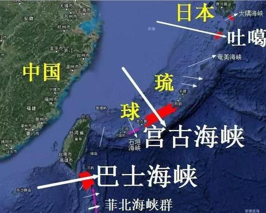 中共轟-6K機群分南北兩路出击西太平洋。取自新浪