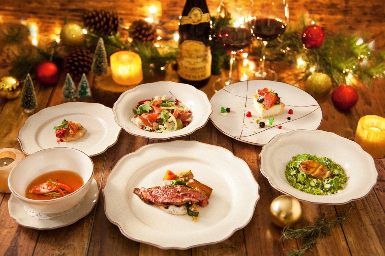 華泰王子飯店旗下驢子餐廳推出耶誕大餐,每人1,980元起。圖/華泰王子飯店提供