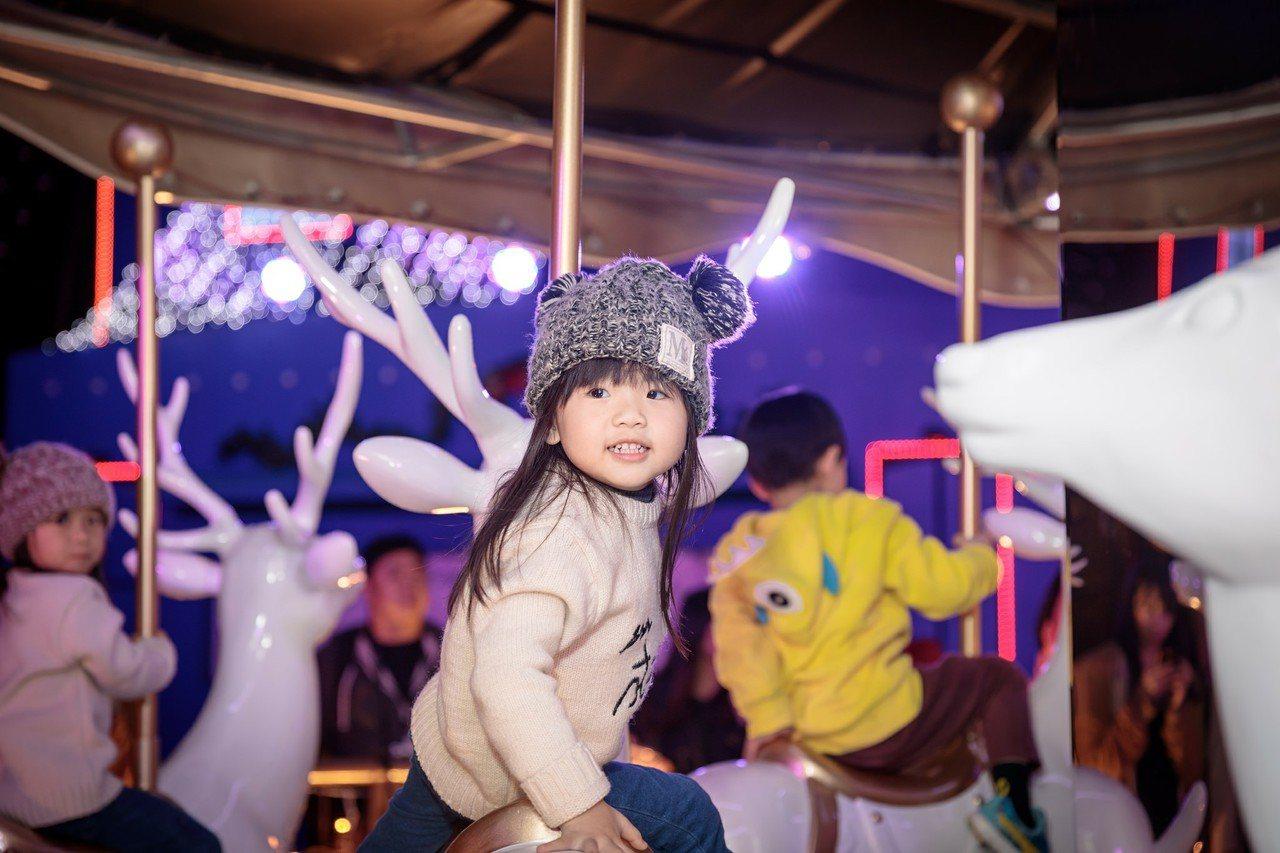 新北歡樂耶誕城5處遊樂設施都免費提供給民眾遊玩。圖/新北觀旅局提供
