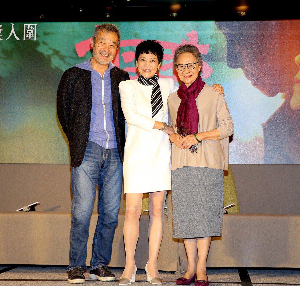 田壯壯(左起)、張艾嘉以及吳彥姝在「相愛相親」的表現相當精湛。圖/甲上提供