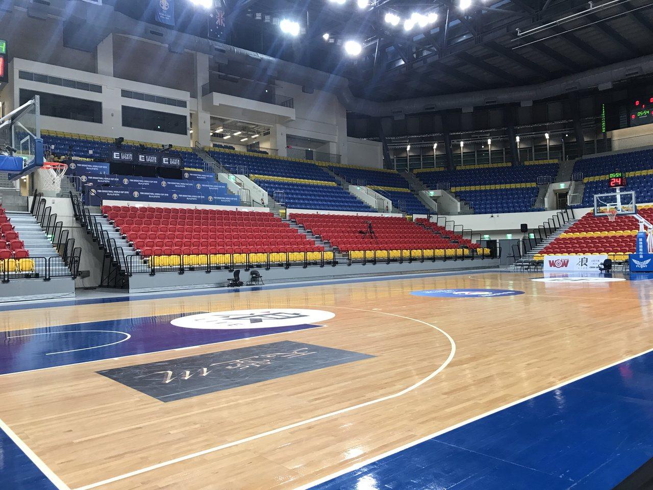 亞洲籃球總會這次共派5名官員來台協助賽事舉辦及場地相關設施審核。記者劉肇育/攝影