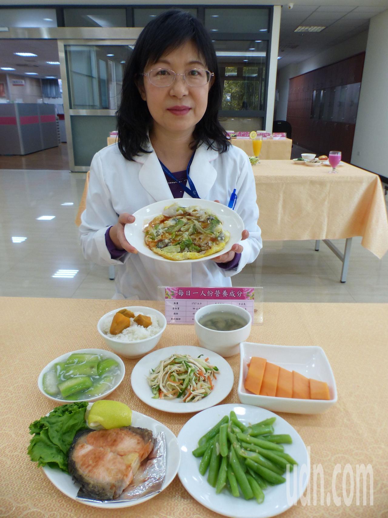 營養師王文宏建議孕婦,懷孕4個月起可增加10克蛋白質、300卡熱量,例如一份蚵仔...