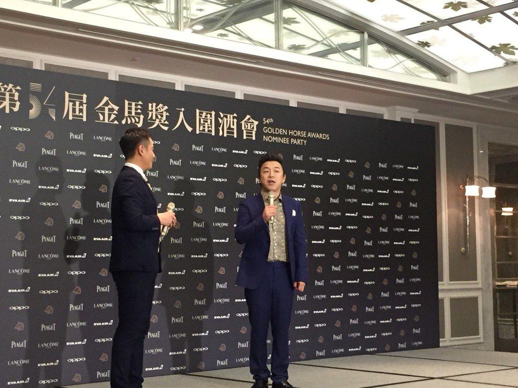 大陸男星黃渤今晚出席金馬獎入圍酒會。記者陳建嘉/攝影