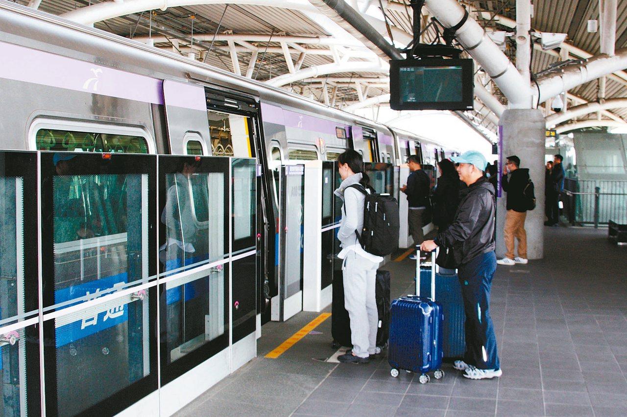 桃園捷運公司明年1月招募136個職缺,新進人員起薪3萬元起跳。 本報資料照片