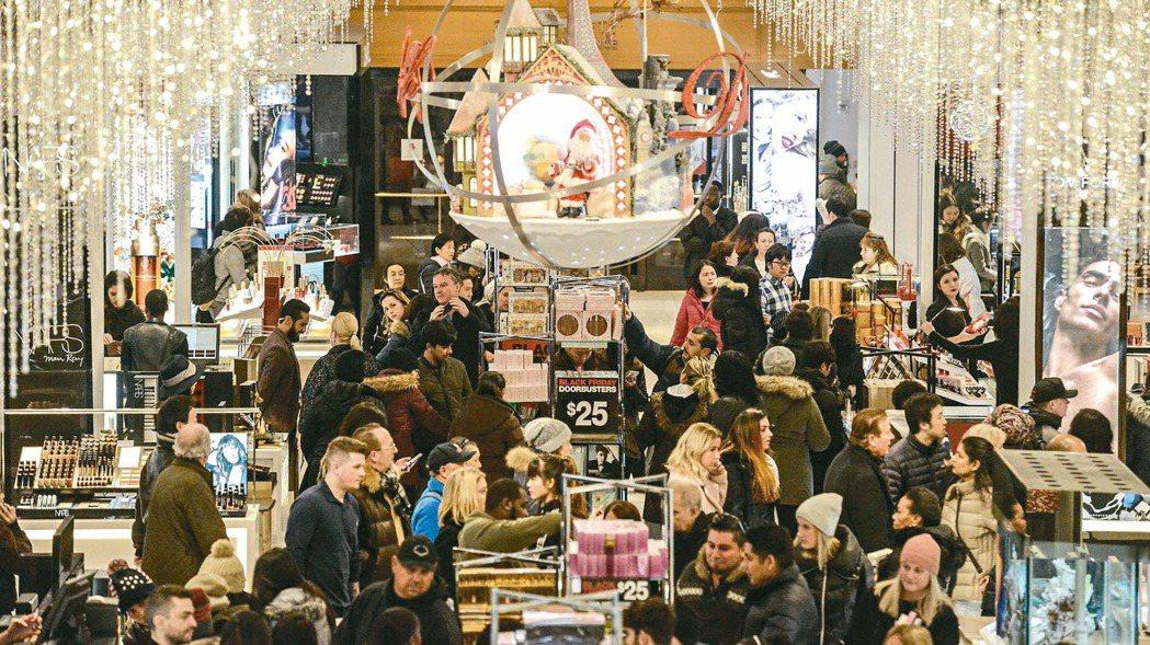 感恩節隔天的「黑色星期五」購物節已成為年度盛事(法新社)