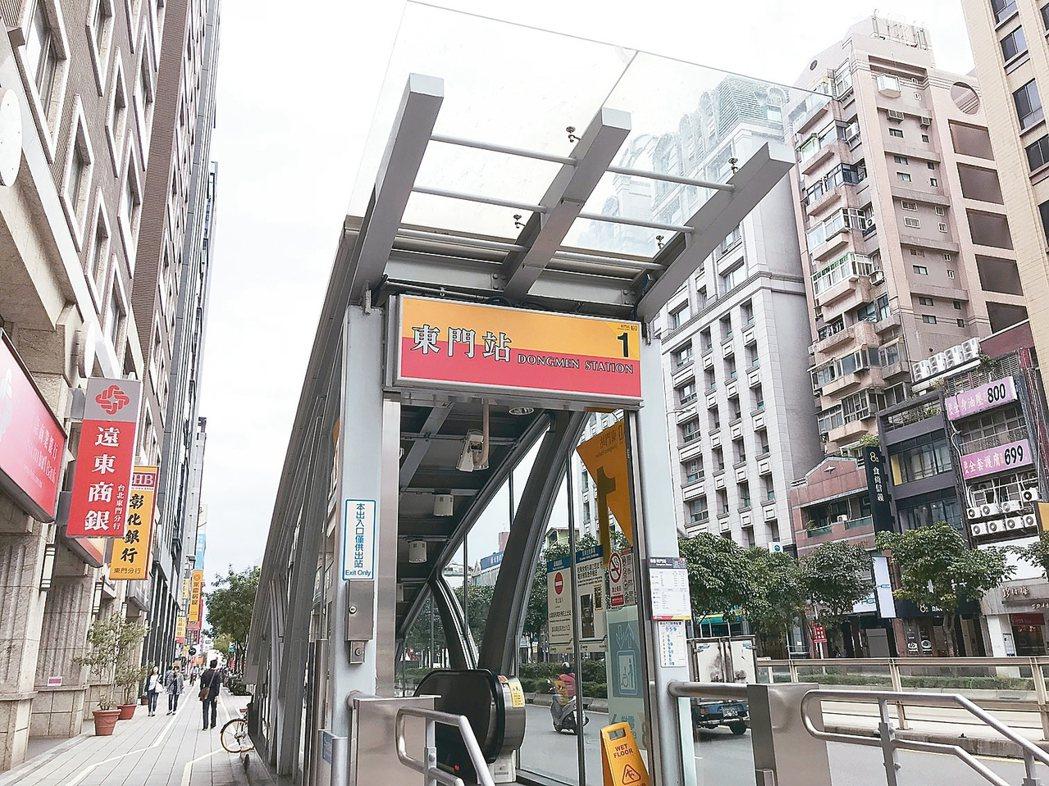 北市捷運東門站一帶,機能佳、靜巷多,不少民眾列為購屋首選。 記者游智文/攝影