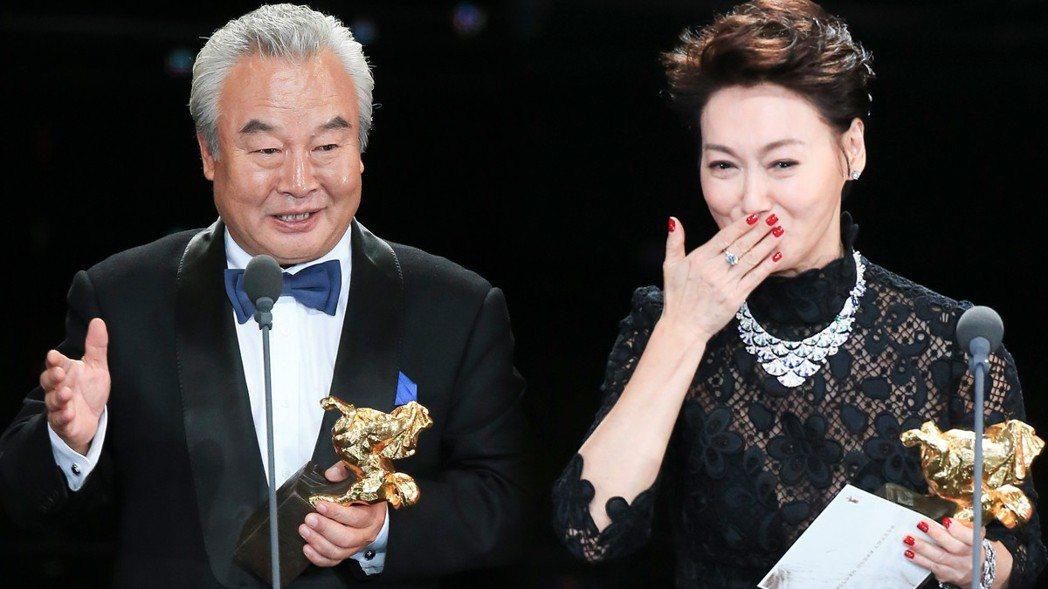 第54屆金馬獎男女主角出爐,分別由涂們、惠英紅奪得。 圖/記者陳瑞源/攝影