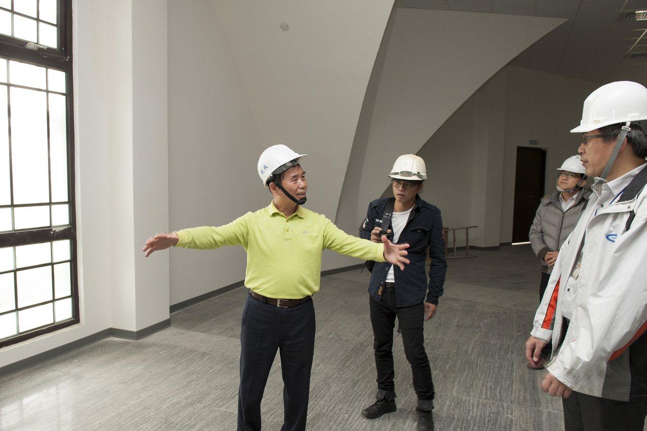 台中市府會勘確定沙雕美術館將座落大安媽祖文化園區內的2樓空間。記者黑中亮/攝影