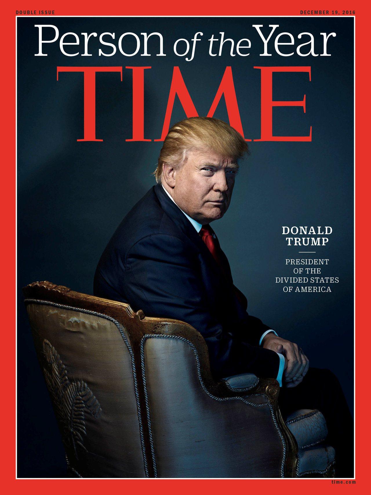 川普是時代雜誌2016年的年度風雲人物。路透