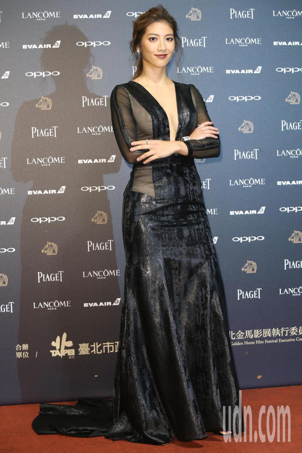 入圍第五十四屆金馬獎最佳新演員獎的瑞瑪席丹走紅毯。記者林俊良╱攝影
