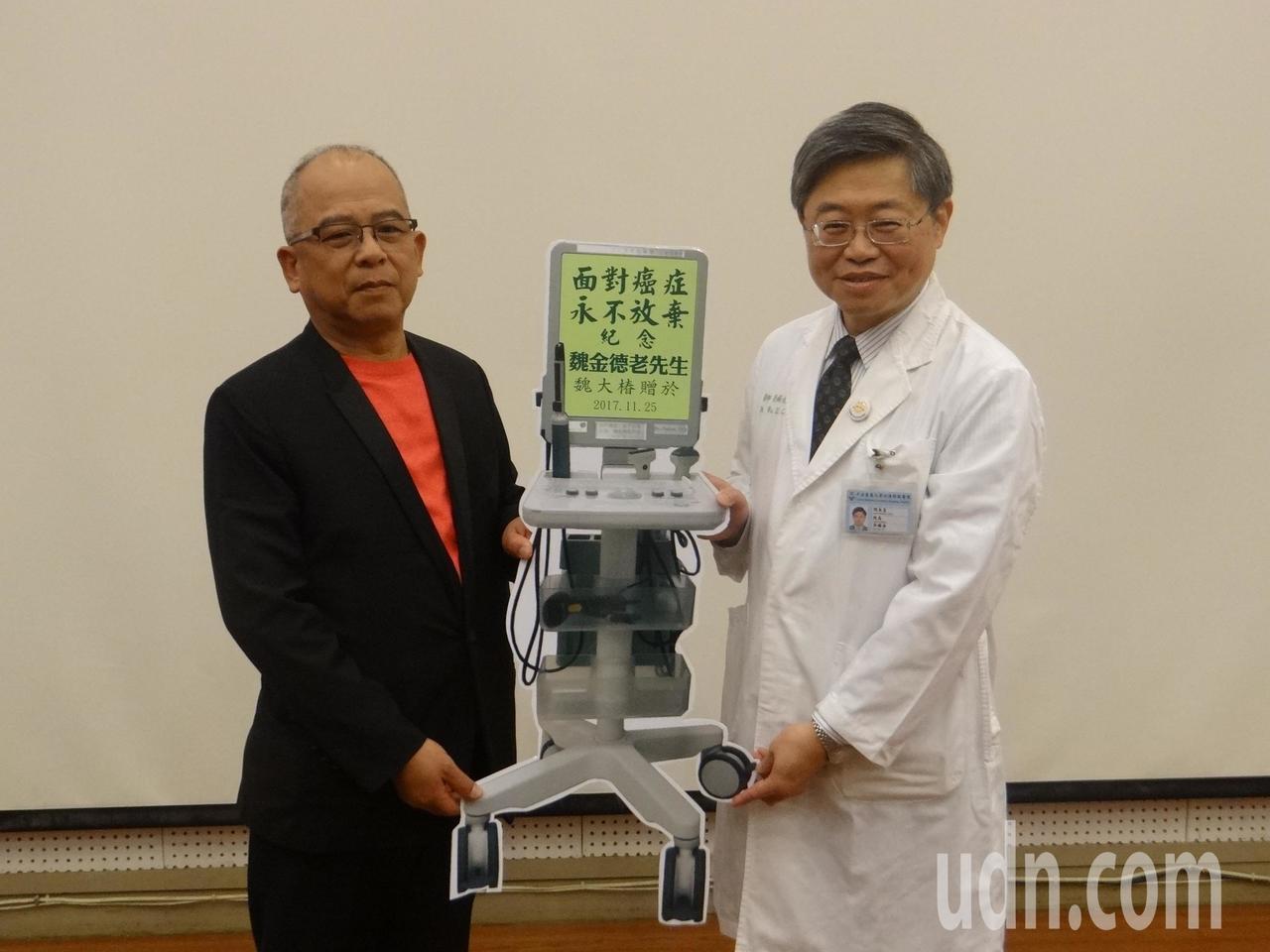 善心人士捐贈百萬儀器給媽祖醫院。記者蔡維斌/攝影