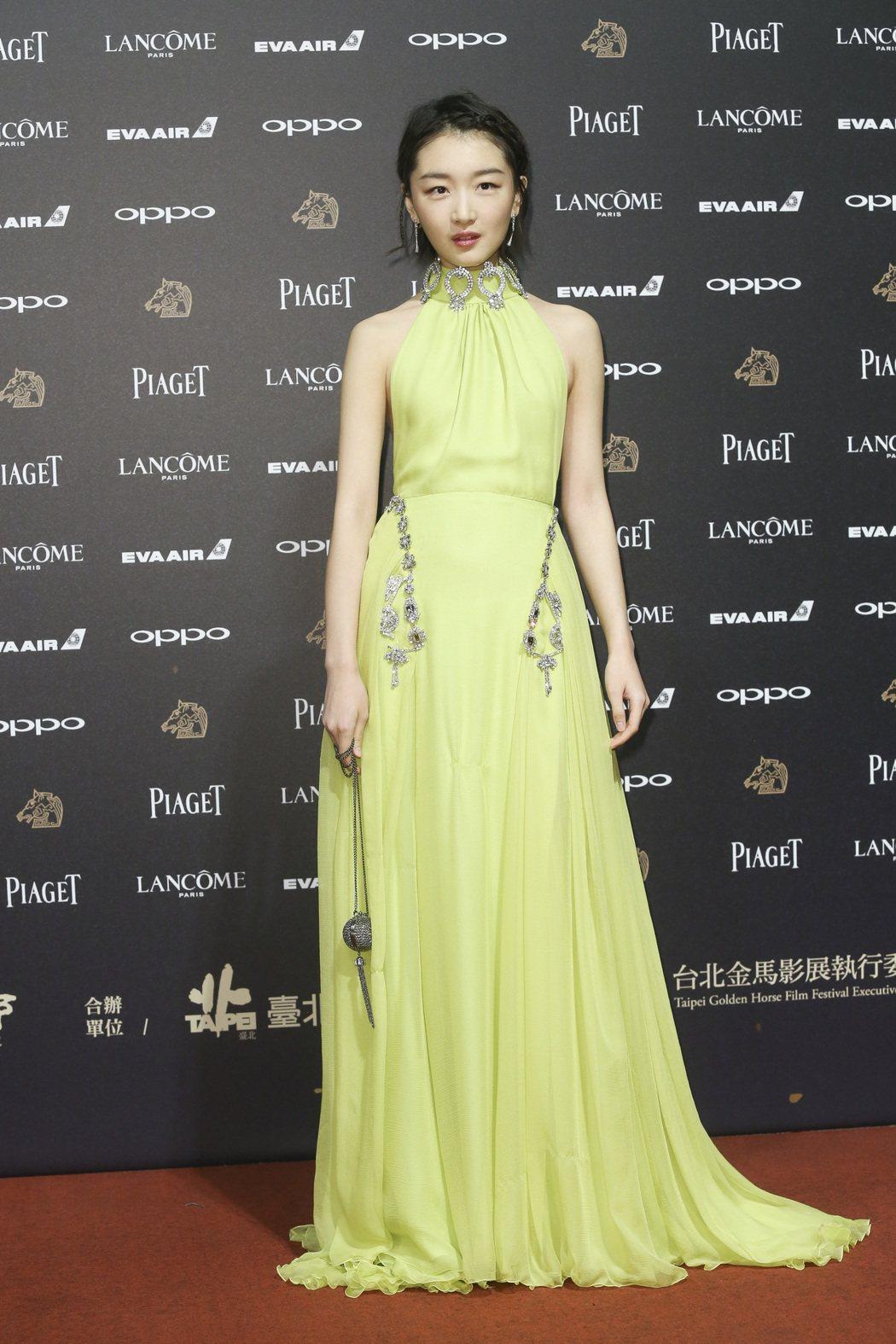 第五十四屆金馬獎頒獎嘉賓周冬雨走紅毯。記者林俊良/攝影