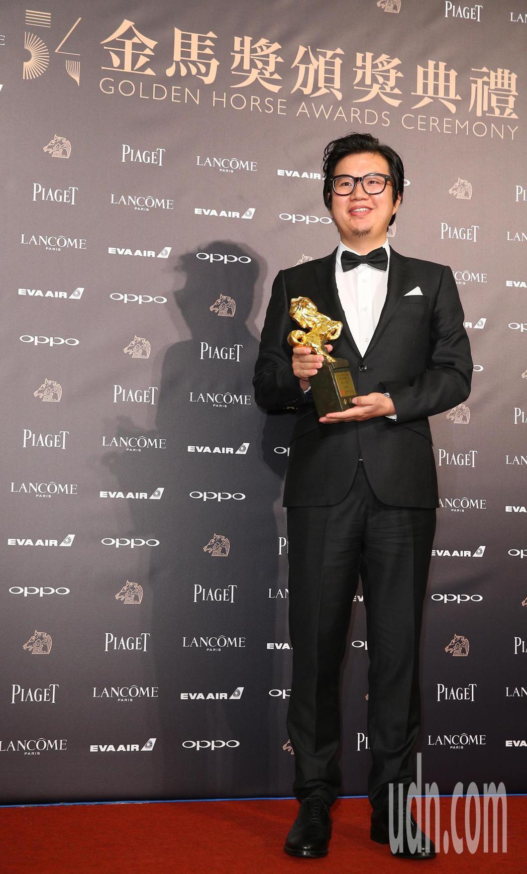 第五十四屆金馬獎最佳原著劇本獎,由《老獸》周子陽獲得。記者陳正興/攝影
