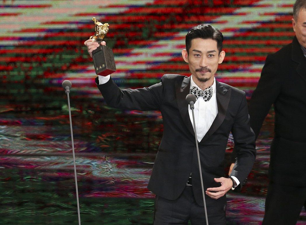 第五十四屆金馬獎最佳男配角獎由《阿莉芙》陳竹昇獲得。記者陳瑞源/攝影