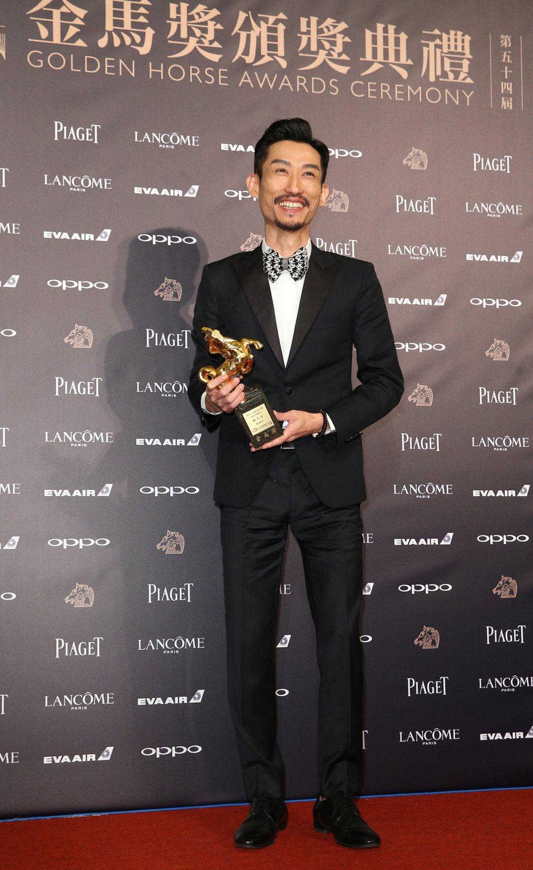 第54屆金馬獎最佳男配角獎由《阿莉芙》陳竹昇獲得。記者陳正興/攝影
