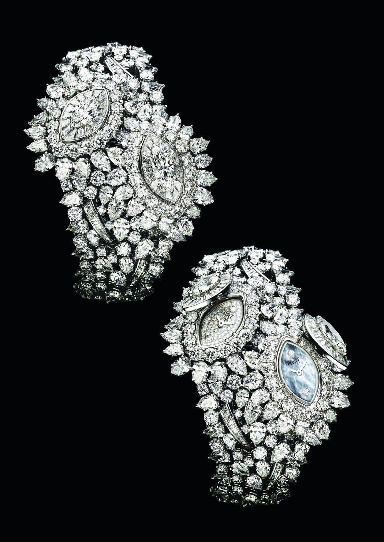 張艾嘉配戴Limelight系列葉子造型頂級珠寶神秘腕表,5,800萬元。圖/伯...