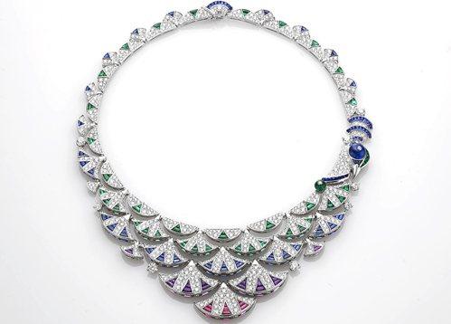 惠英紅配戴的BVLGARI DIVAS' DREAM系列 頂級彩寶與鑽石項鍊,1...