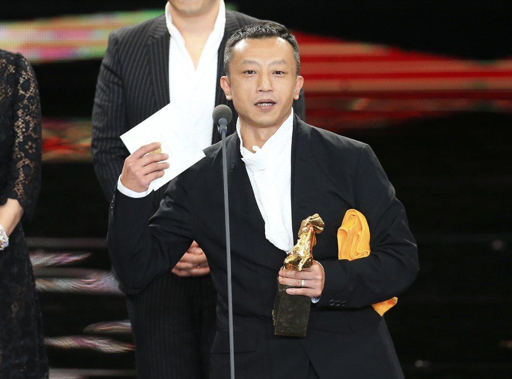 第五十四屆金馬獎最佳劇情片獎由「血觀音」獲得,導演楊雅喆領獎。記者陳瑞源/攝影