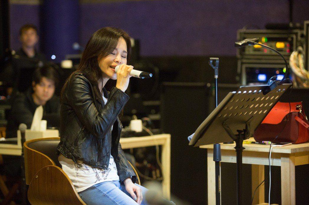 彭佳慧26日舉辦台北演唱會,圖為日前她練唱情形。 圖/媒體棧國際提供