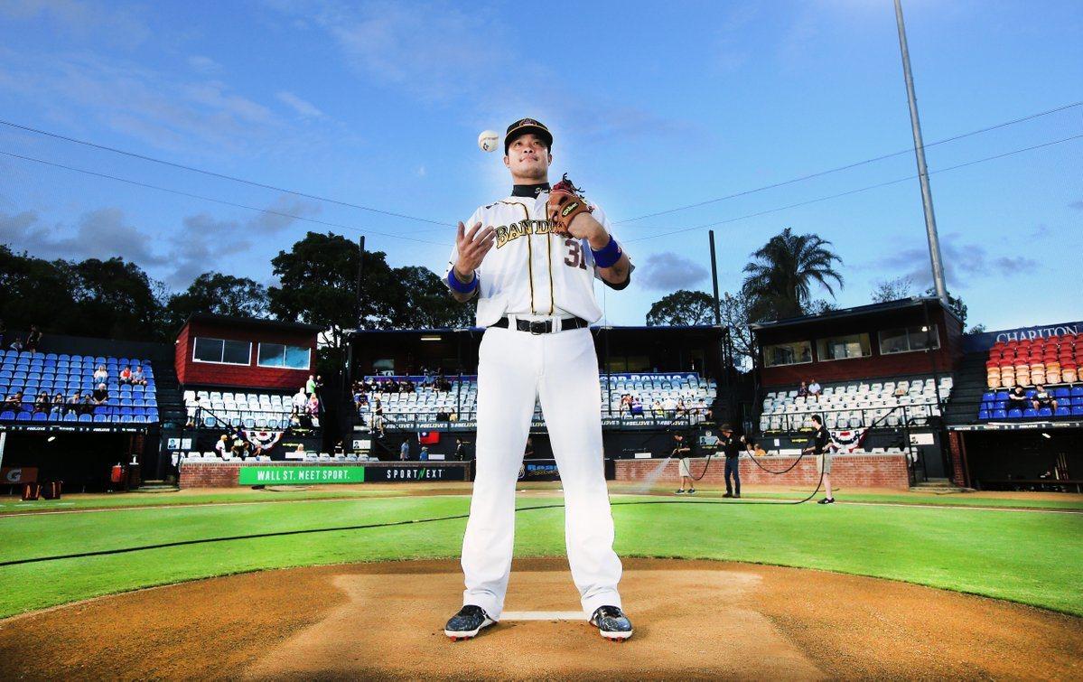 林智勝在澳職首次單場雙響砲。 擷圖自澳洲職棒官方推特