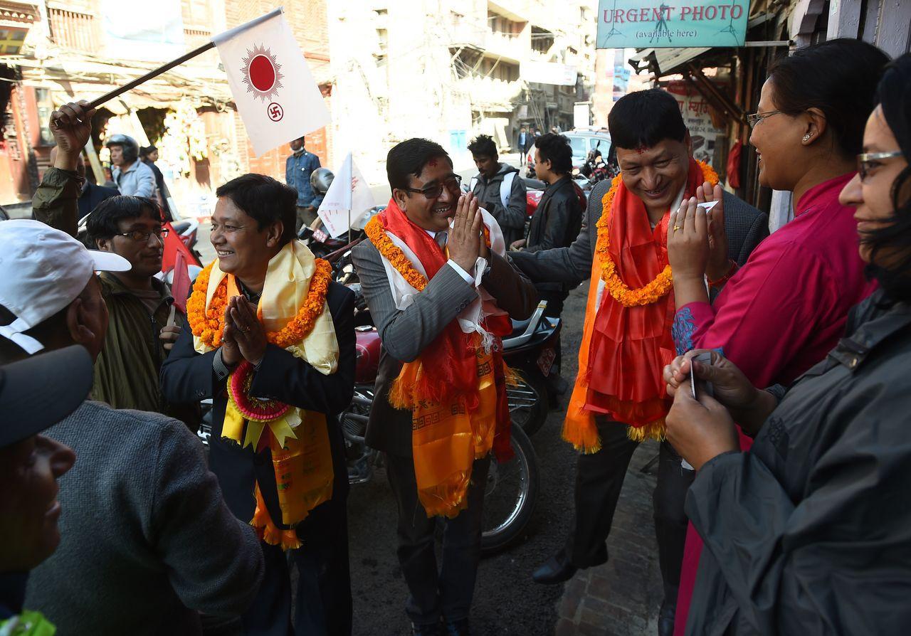 尼泊爾選舉 成為中國跟印度的角力場 法新社