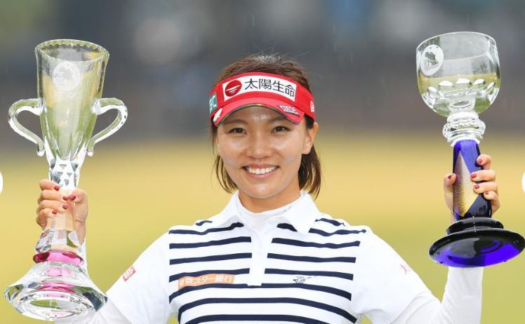 中國信託高球女將盧曉晴贏得今年日本LPGA第四冠,總獎金第三度破1億元日圓。JL...