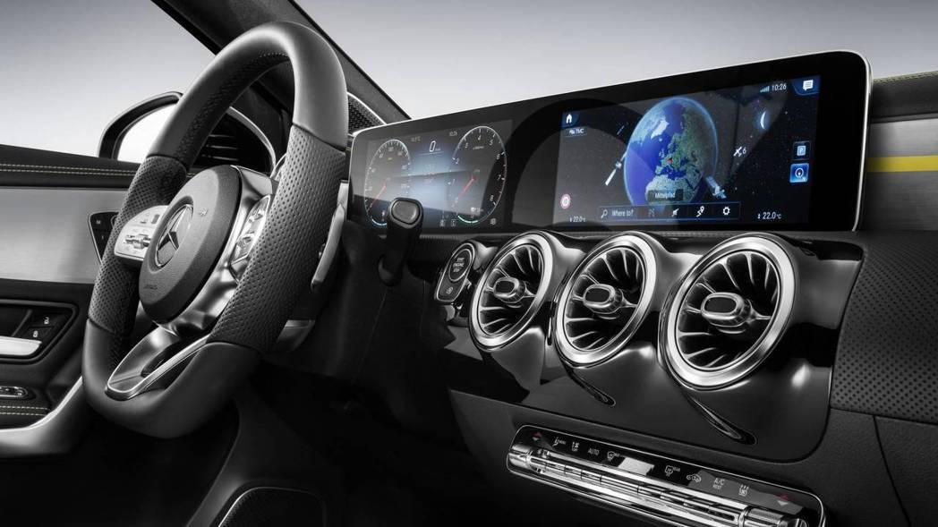 大面積雙顯示螢幕下放至A-Class,意圖滿足更多年輕車主。 圖片來源:M.Benz