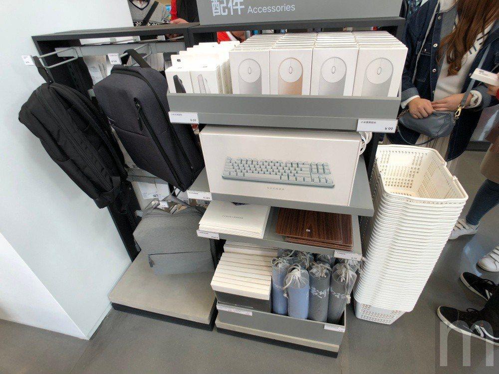 ▲對應筆電產品使用的外接鍵盤、滑鼠、滑鼠墊等配件
