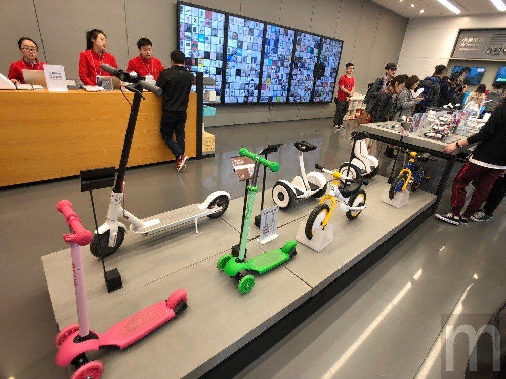 ▲平衡車、電動滑板車等產品