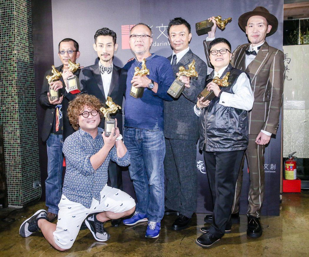 「大佛普拉斯」拿下5座金馬獎,今天凌晨舉行慶功宴。記者鄭清元/攝影