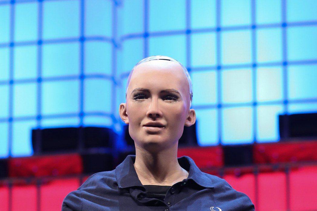 沙烏地阿拉伯首位機器人公民蘇菲亞。歐新社