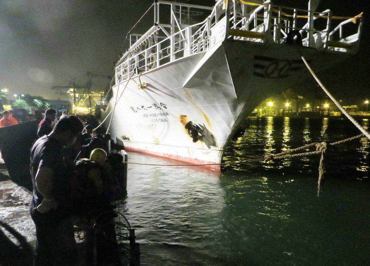 發生菲、印籍漁工鬥毆致命的合鴻168號。記者林保光/翻攝