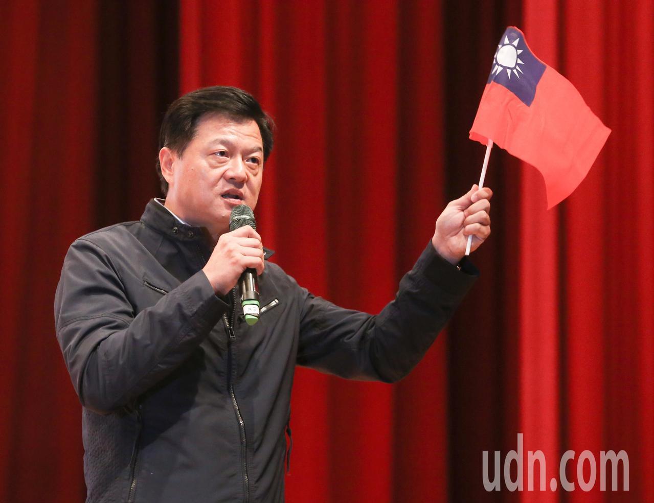 前台北縣長周錫瑋上午出席國民黨黨慶活動。記者黃威彬/攝影