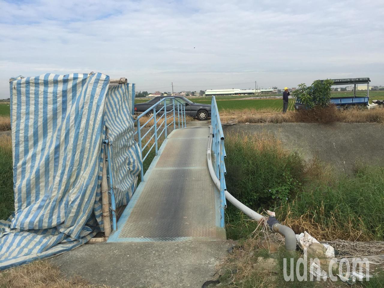 後壁土溝跨白河昇安大橋原只有座鐵橋。記者吳政修/攝影