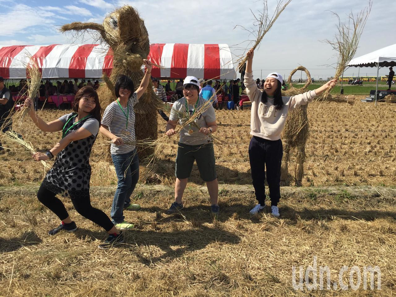 田間玩很大,吸引不少年輕人參加。記者吳政修/攝影