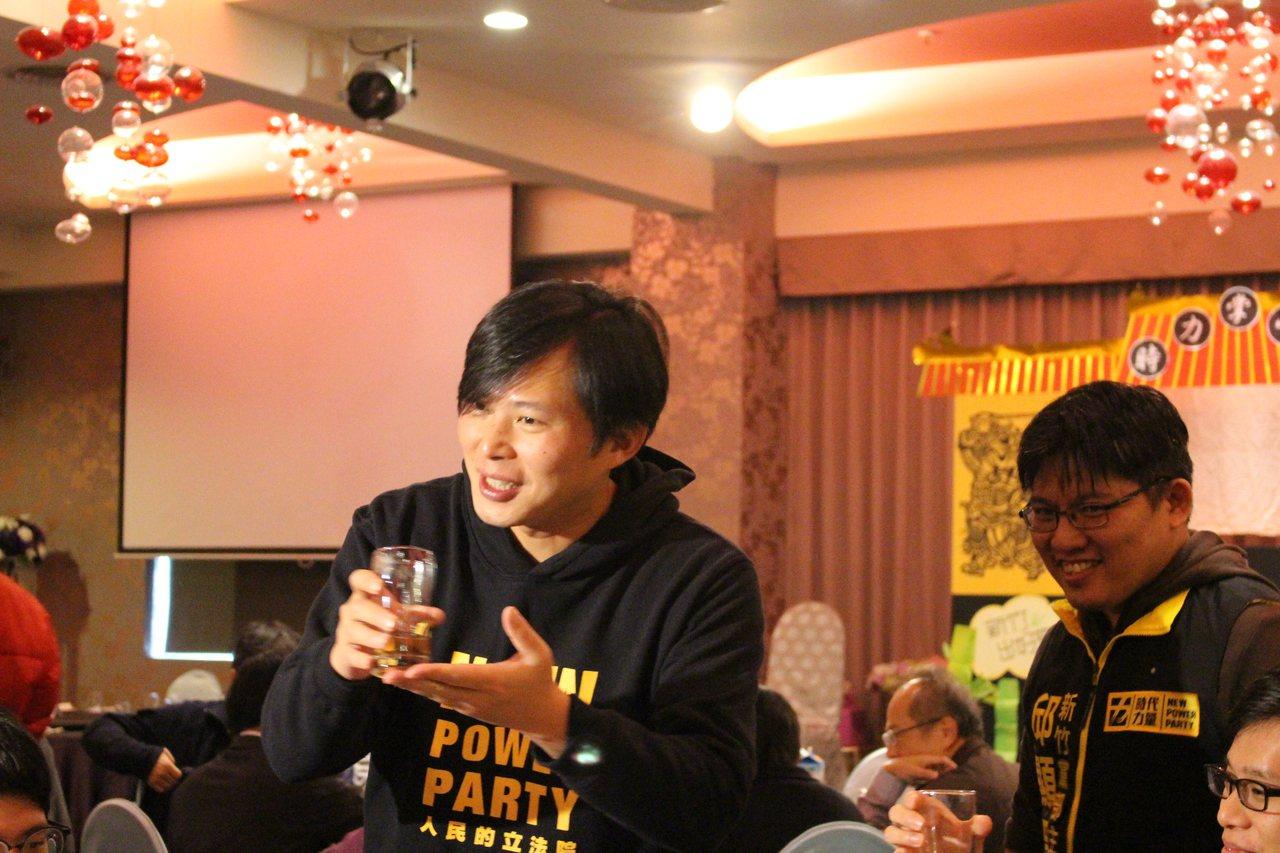 黃國昌出席時代力量募款餐會。記者張雅婷/攝影