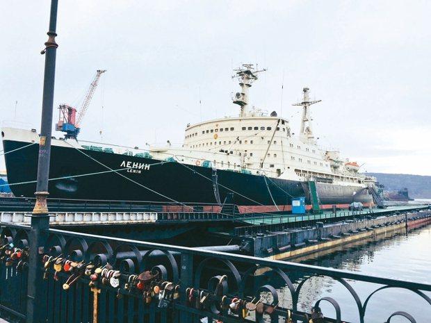 「列寧號」,這是全世界第一艘核子動力的破冰船,目前已退役。 記者錢欽青/攝影