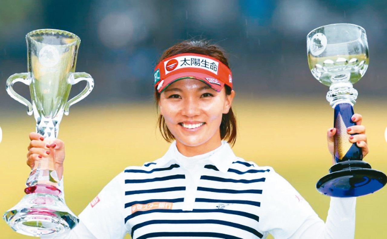 中信女將盧曉晴贏得今年日本LPGA第四冠,總獎金破億日幣。 圖/取自JLPGA官...