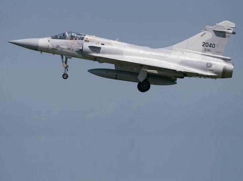 墜毀的2040號幻象2000戰機。 圖/國防部提供