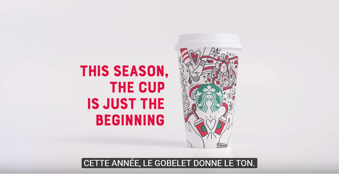 星巴克在每年的節慶時刻,都會推出特色的杯款包裝。圖擷自星巴克官方YouTube頻...