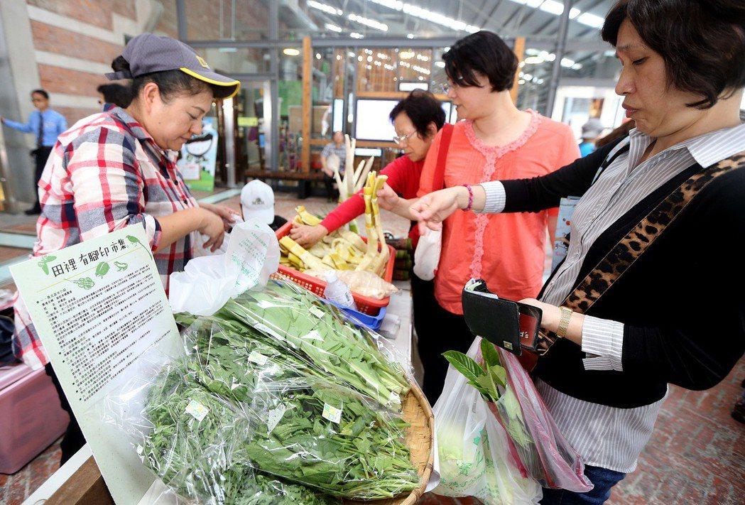 農夫市集在台灣已經相當普遍,成為城市生活的一部分。 圖/聯合報系資料庫