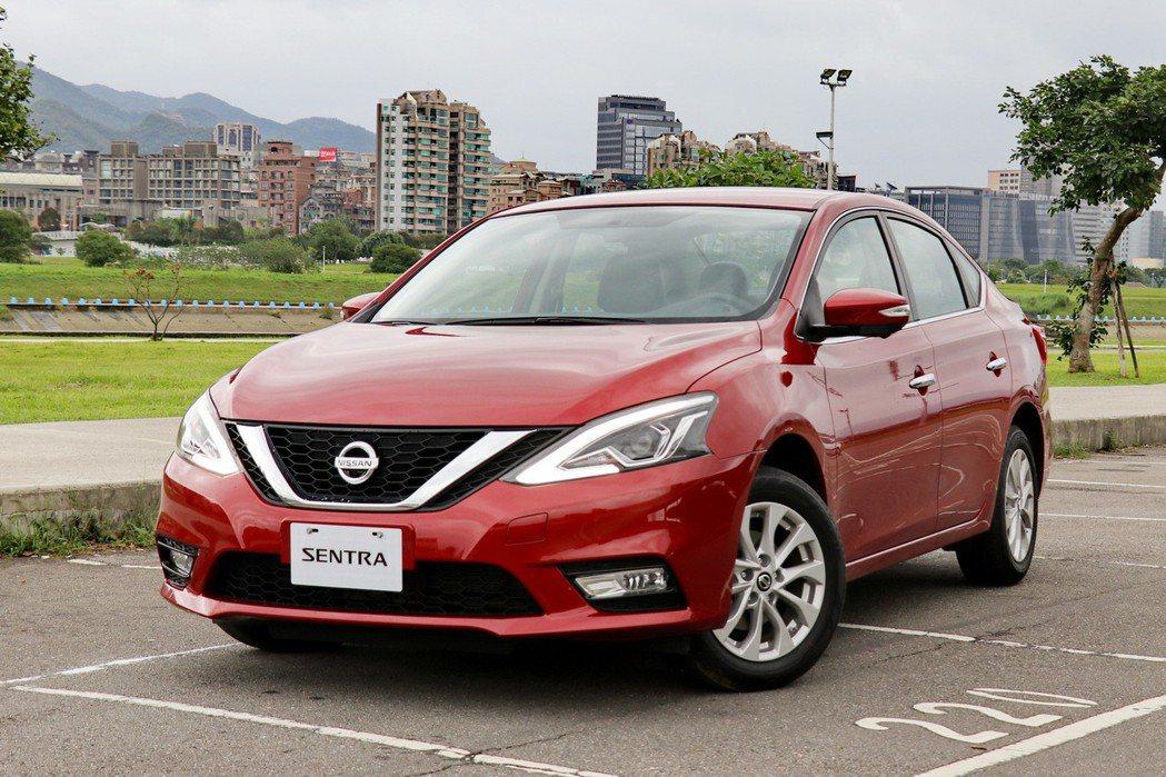 全新進化的大器房車Nissan Sentra。 記者陳威任/攝影