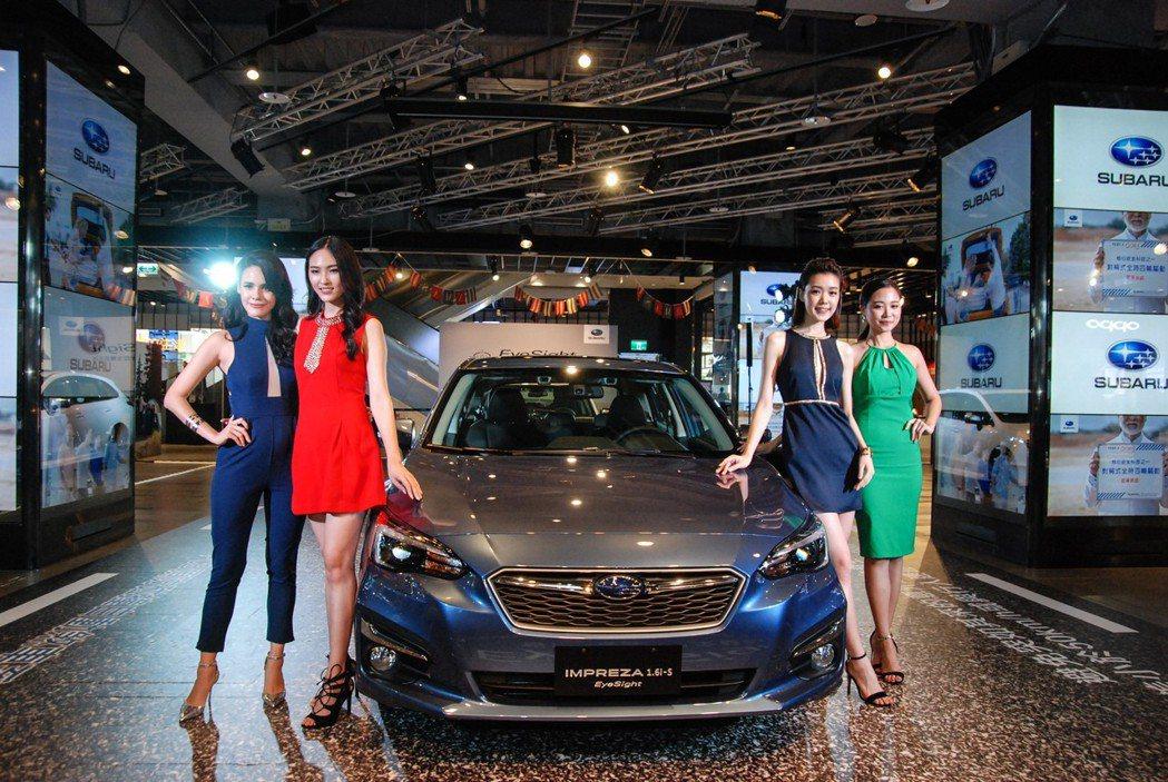 發表現場請來亞洲超模、意美汽車品牌大使 Natalie Pickles 與三位凱渥名模進行展演。圖由左至右為Natalie Pickles、凱渥名模林冠余、金鍾玉、凃佳宜。 記者林鼎智/攝影