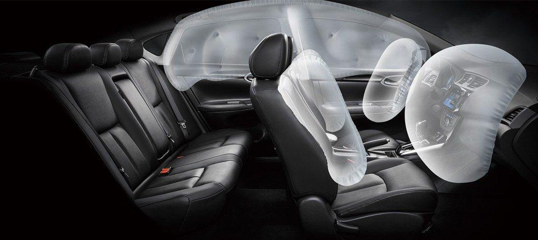 尊爵版提供六具安全氣囊。 圖/裕隆日產提供
