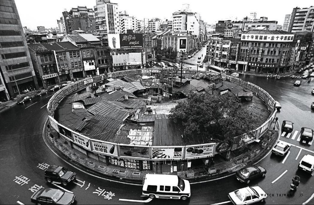 圖中「圓環」的面積約650坪,是南京西路、重慶北路、天水路、寧夏路等的輻輳中心,...