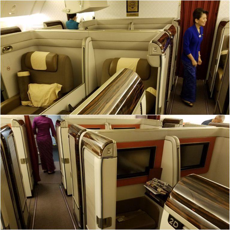 頭等艙一覽,上圖右方穿藍色衣服的,就是座艙長。圖文來自於:TripPlus