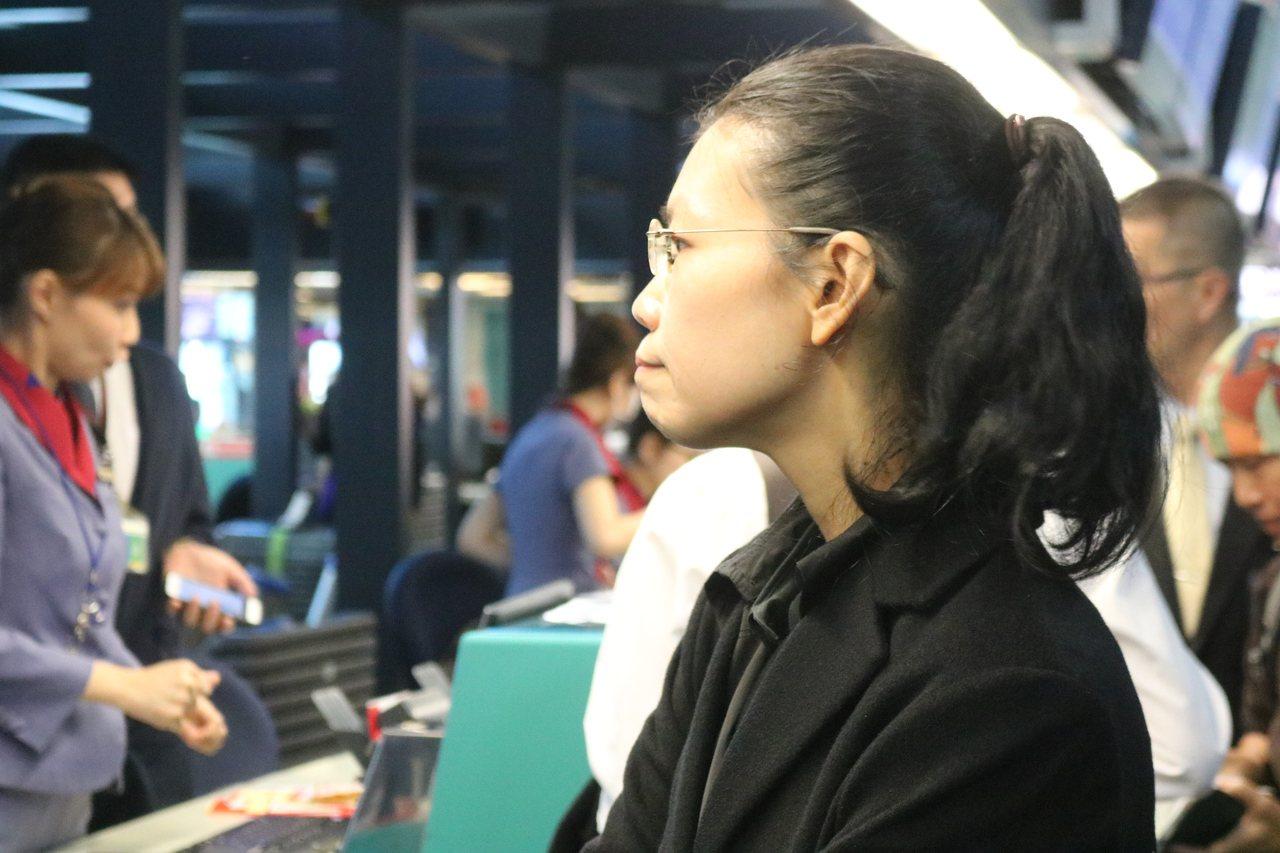 李明哲妻子李凈瑜。記者陳熙文/攝影